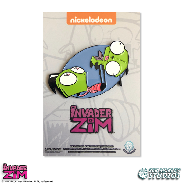 Working Out - Invader Zim Pin