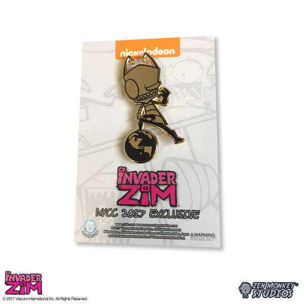 NYCC 2017 Exclusive - Golden Zim - Invader Zim Pin