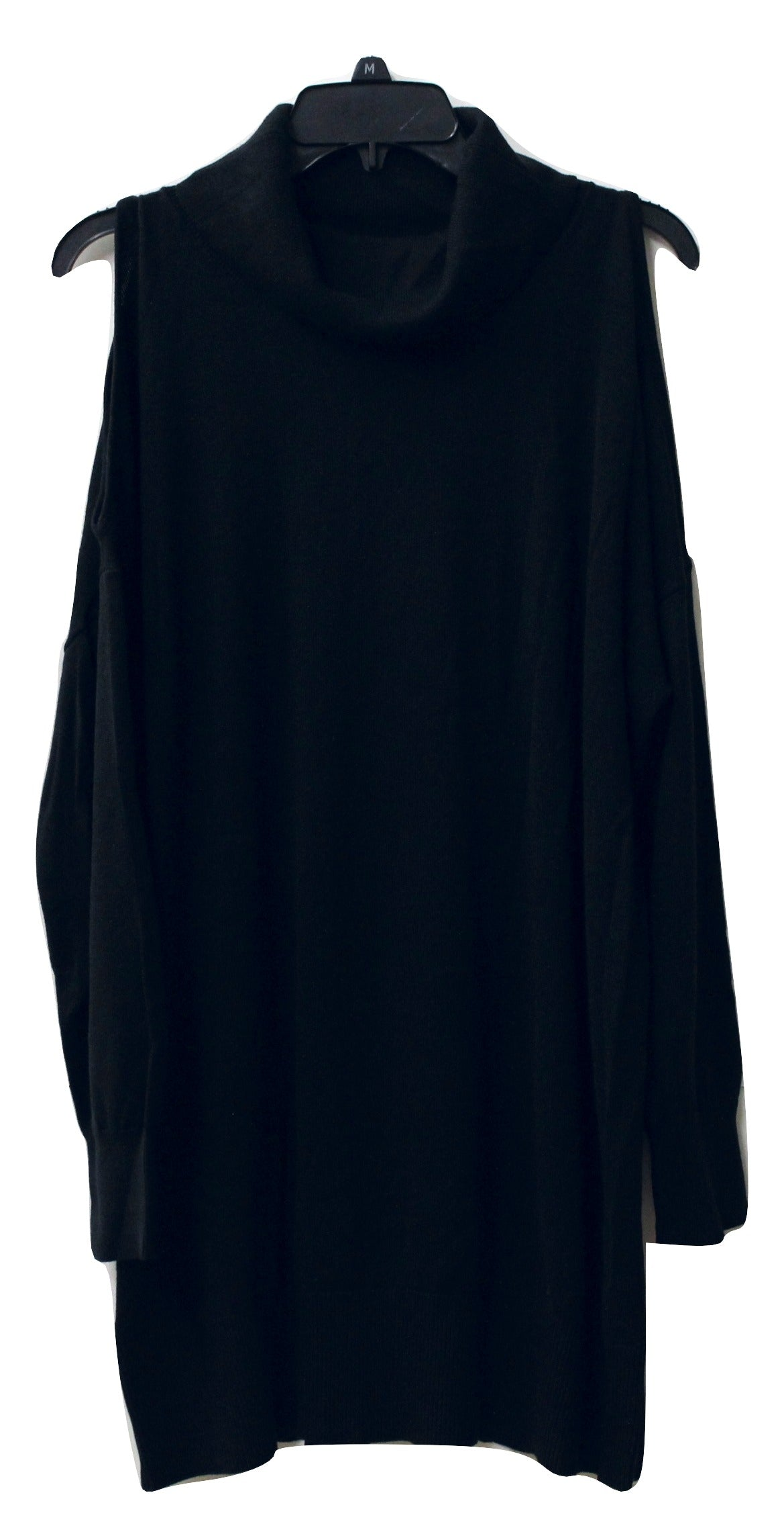 BCBGeneration Women's Black Shoulderless Sweater Size L