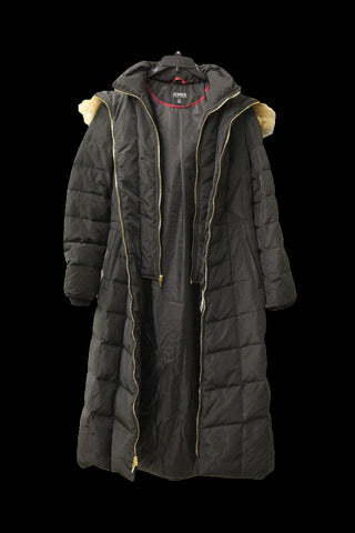 Jones New York Women's Black Long Parka, Size S NWOT