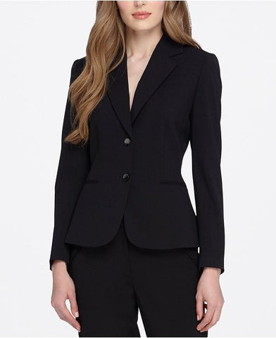 Tahari ASL Women's Black Two-Button Blazer, Size 4