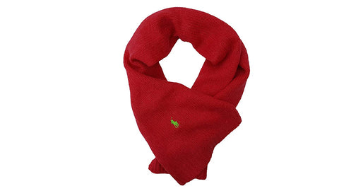 Polo Ralph Lauren Women's Plush Shaggy Scarf (One Size, Red)