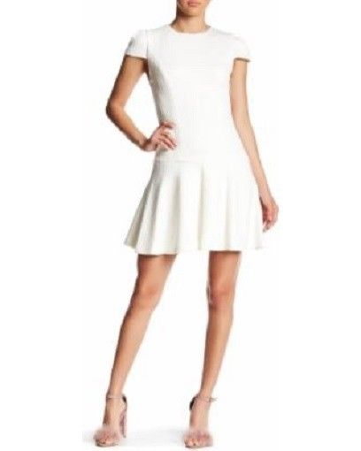 Alice & Olivia, Womens White Dress, Size 0, $298, NWT