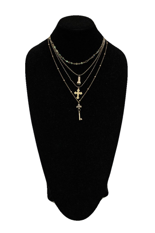 Free People Antique Matinee Necklace w/ Pendants