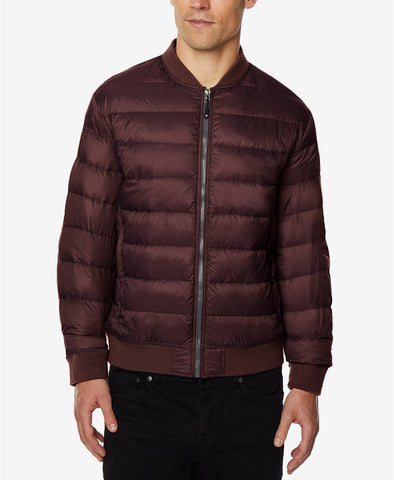 32 Men's Degrees Acai Berry Nano Light Packable Bomber Jacket, Size M