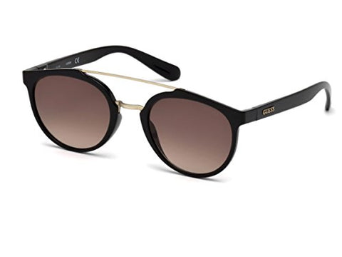 Guess GU6890 01B (Shiny Black - Matt Gold with Brown Gradient lenses)