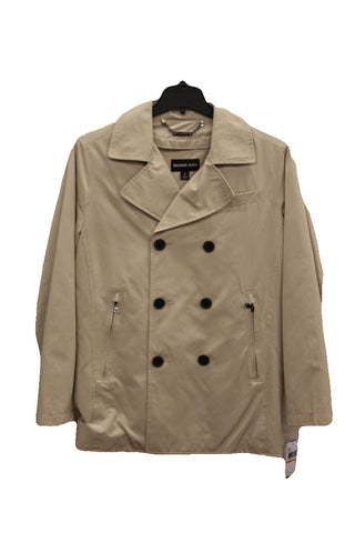 London Fog Womens Snap-Button Hooded Trench Coat, Size L