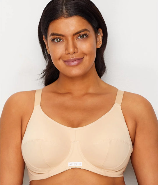 a8422c8dee ELOMI NUDE ENERGISE HIGH IMPACT UNDERWIRE SPORTS BRA