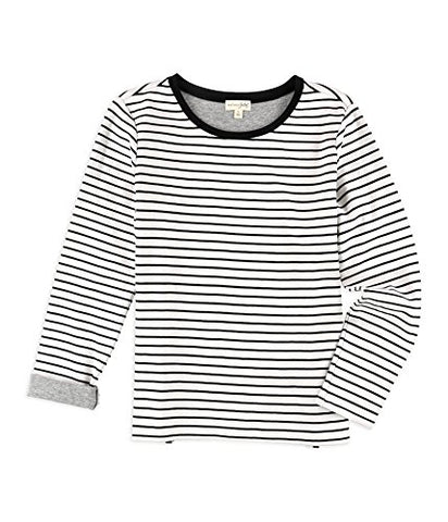 Maison Jules Womens Stripes Embellished T-Shirt blackcombo XS