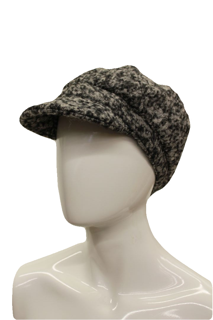 August Hat Company Women's Gray Be Boucle Bias Cut Mod Cap
