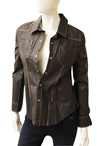 Ecru Clothing Unstructered Leather Shirt/Jacket, Size S, 220