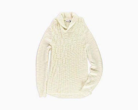 Calvin Klein Mens Wool Blend Cable Knit Pullover Sweater Ivory M