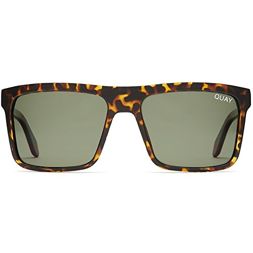 Quay Australia Let It Run Sunglasses in Tortoise/Green