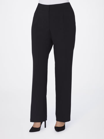 Tahari ASL Black Straight-Leg Bi-Stretch Pants, Size 16W (Only pants included)