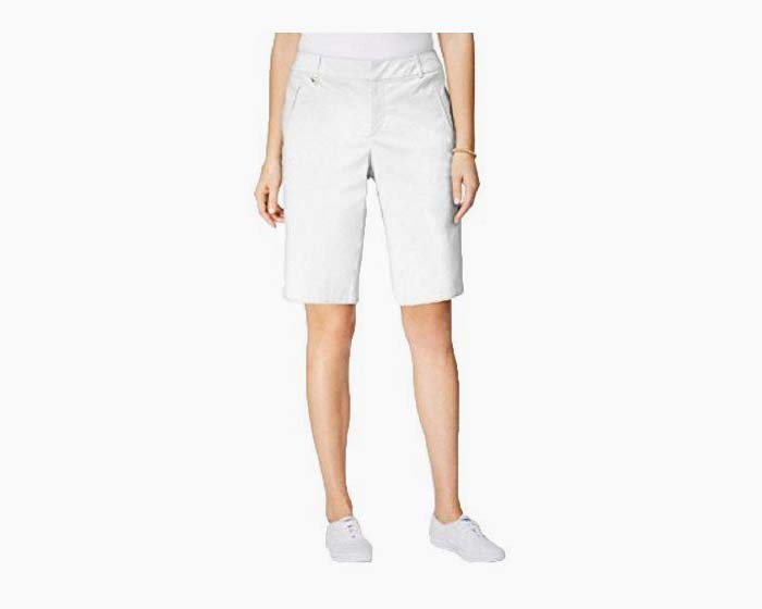 Charter Club D-Ring Twill Shorts (Bright White, 14)