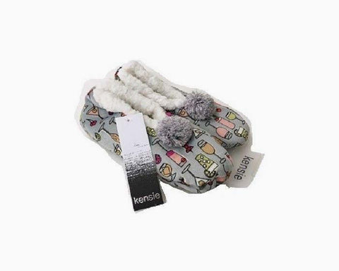 Kensie Women's Slipper/Socks,Gray Cheers, 24 Piece. Lot, NWT