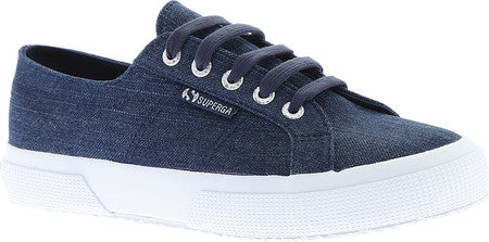 Superga Women's 2750 Shiny Denim Sneakers, Size USW 7.5