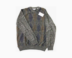 ALEX CANNON Men's Crew Neck Sweater, Size M, Grays