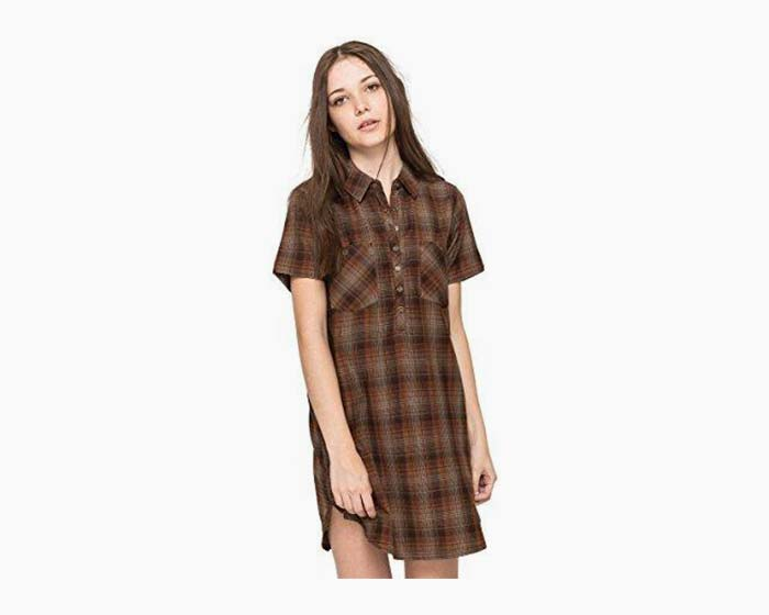 Element Trail Plaid Dress