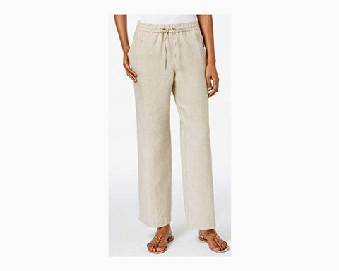 Charter Club Women's Solid Linen Pants