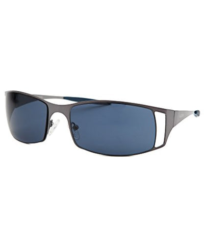 GUESS Women's GU6248 Gunmetal/Blue Lens One Size