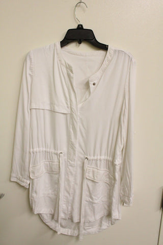 Ecru Women's White Cotton Utility Parka M NWT