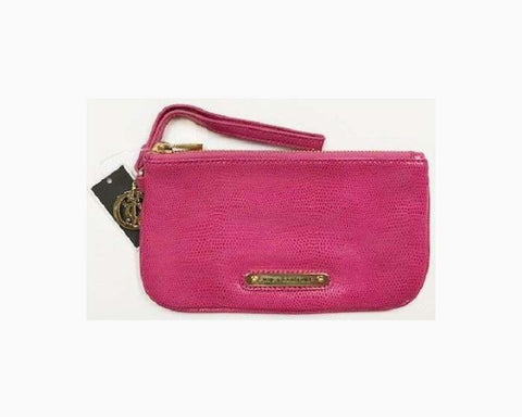 JUICY COUTURE Simple Leather Wristlet, Pink, NWT, $90