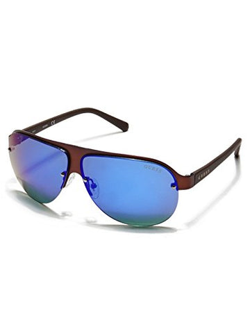 GUESS Factory Men's Rimless 3D Shield Sunglasses