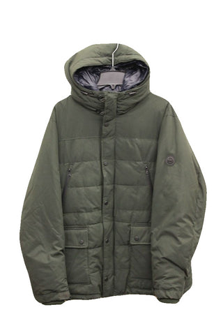Michael Kors Men's Green Hooded Puffer Coat, Size XXL