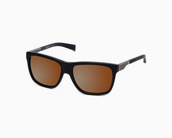 Harley-Davidson Official Designer Sunglasses HD2006-02G in Matte-Black Frame with Gold-Mirror Lens