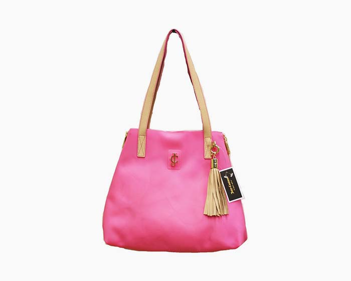 Juicy Couture Seasonal Coast Tote YHRUO232 Neon Pink - NWT