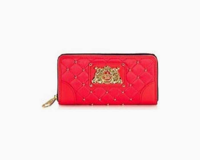 Juicy Couture Quilted Studded Nylon Zip Around Wallet NWT $90