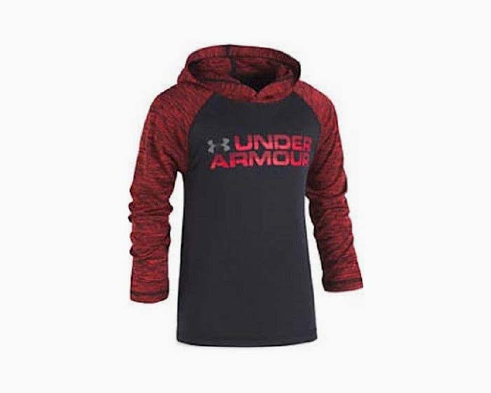 Under Armour Boys' Logo Training Hoodie - Little Kid - Black/Red, NWT