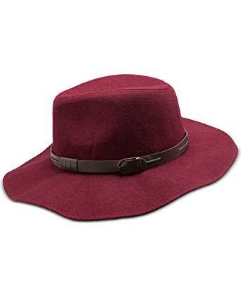 INC International Concepts Women's Maroon Belted Band Panama Hat