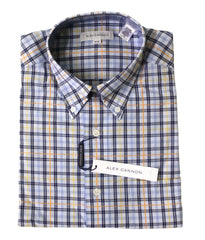 Alex Cannon Men's Dress Shirt, Blue Checks, NWT