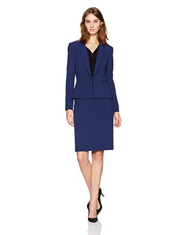 Tahari by Arthur S. Levine Women's Slate Basic Bi-Stretch Skirt Suit, Size 18