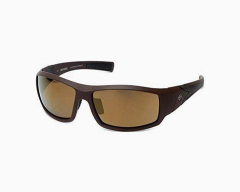Harley-Davidson Official Designer Sunglasses HD0630S-49G in Brown Frame with Gold-Mirror Lens