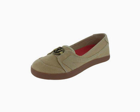 The Peoples Movement Women's Beige Katie Flats, Size 7