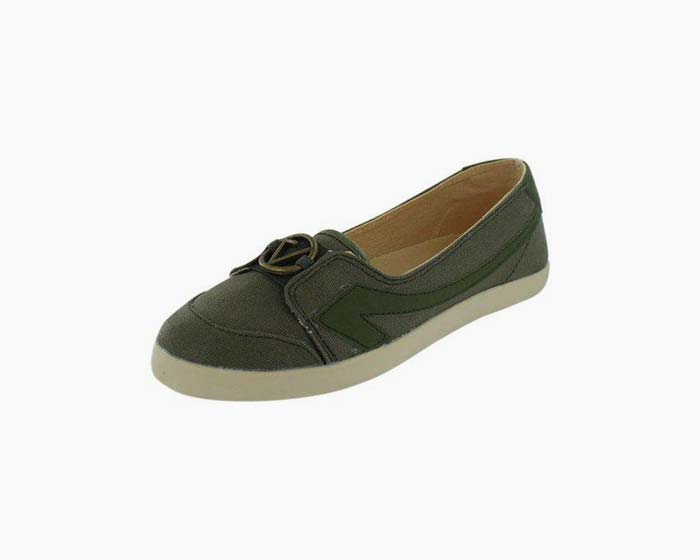 The Peoples Movement Women's Green Katie Flats, Size 8