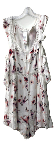 Foxiedox Women's White Floral Romper, Size L