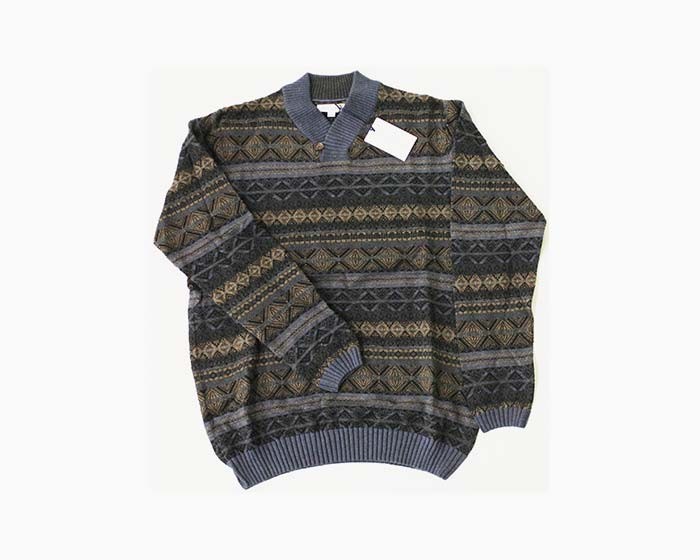 ALEX CANNON Men's High Neck Sweater, Size M, Forest