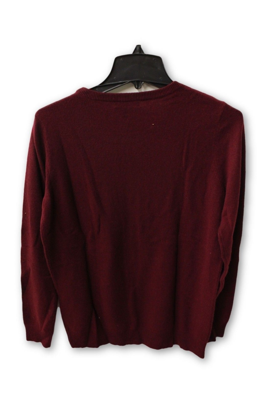 C by Bloomingdale's Women's Cashmere - Maroon Crew Neck Sweater L NWT