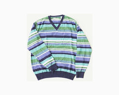 ALEX CANNON Men's V-Neck Sweater, Size M, Patriot