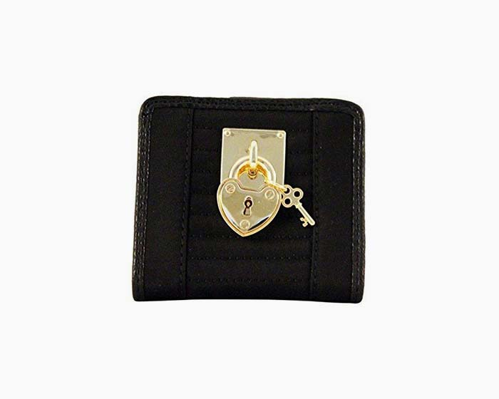 Juicy Couture Black SFP Quilted Mini Wallet