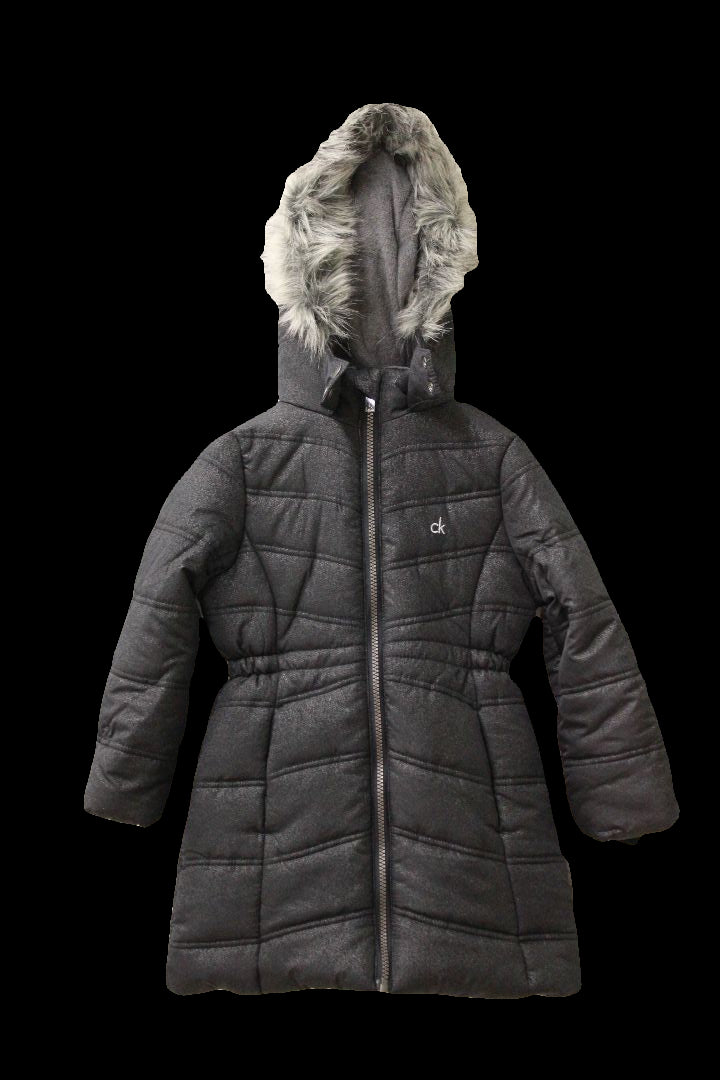 85bb9a46f Calvin Klein Everest Puffer Jacket with Faux-Fur Trim, Toddler Girls, Size  5/6