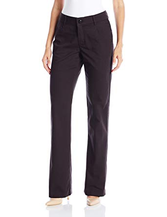 Lee Women's Black New Midrise No Gap Madelyn Trouser, SIze 16M