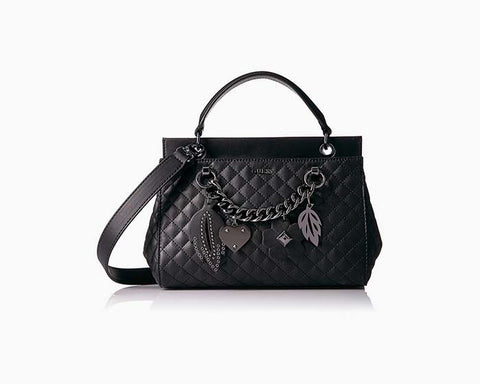 Guess Women's Stassie Black Top Handle Satchel Handbag - NWT