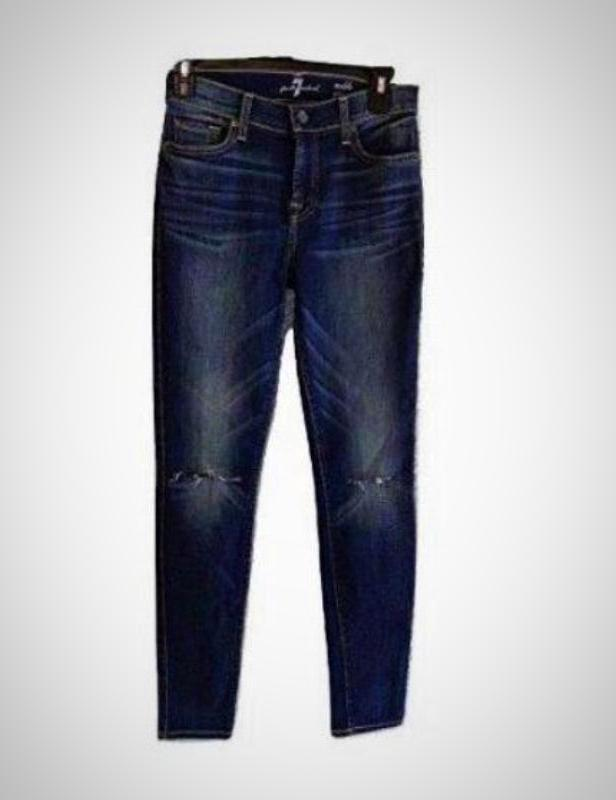 7 For All Mankind Women's Gwenevere Ankle Skinny Jeans, Sunnyvale 2, Size 32