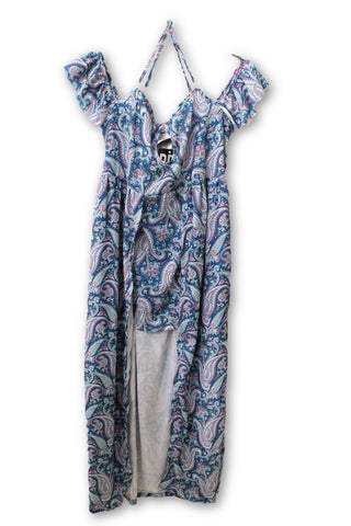 RP 4 LF Stores Turquoise Pattern Summer Dress M NWT