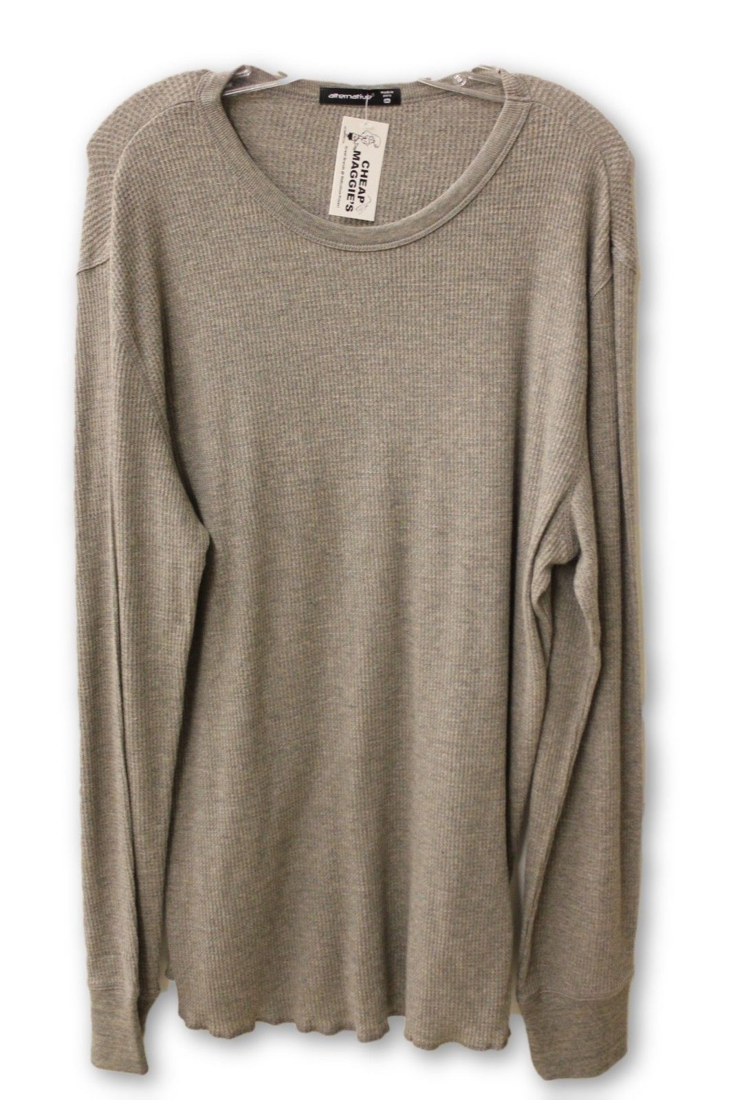 Alternative Men's Gray Thermal Shirt 2XL